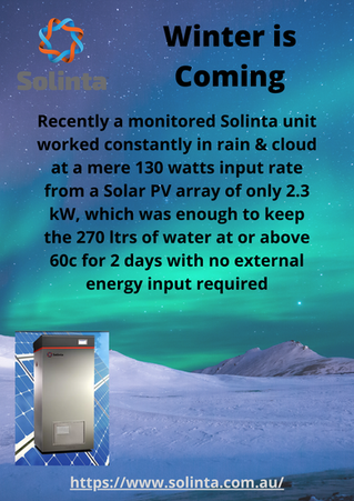 Winter is Coming & Solinta provides the highest PV use with a threshold of 40 watts