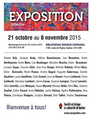 Exposition collective, bibliothèque Monique-Corriveau