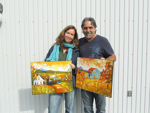 Cours de peinture avec Yvon St-Aubin