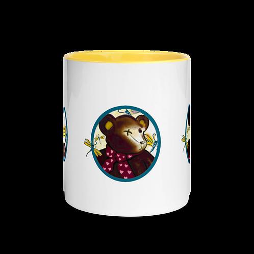 "Mug with Color Inside ""Bearable Cuteness"" S. Johnson Designs"