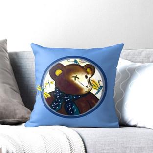 """Throw Pillow """"Bearable Cuteness"""