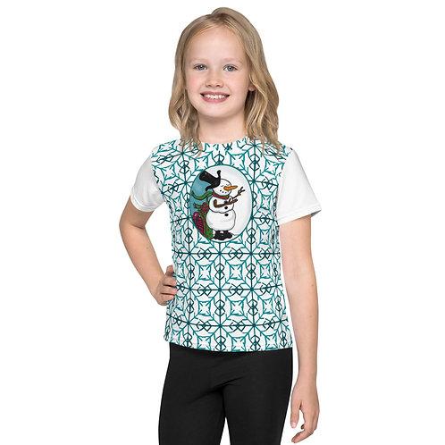 Children's Magical Snowman Snowflake T-Shirt
