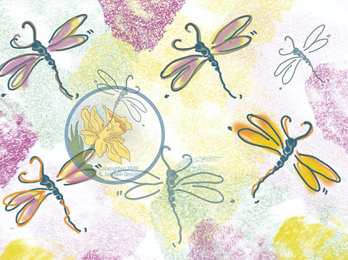 """Dancing Dragonflies Background"""