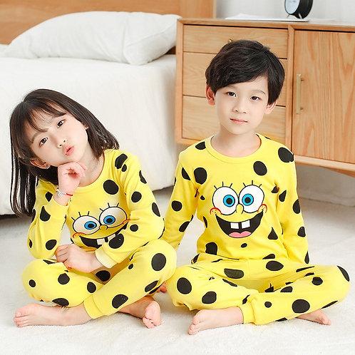 Kids Pajamas  Girls Boys Sleepwear  Cartoon Pajama Sets Cotton