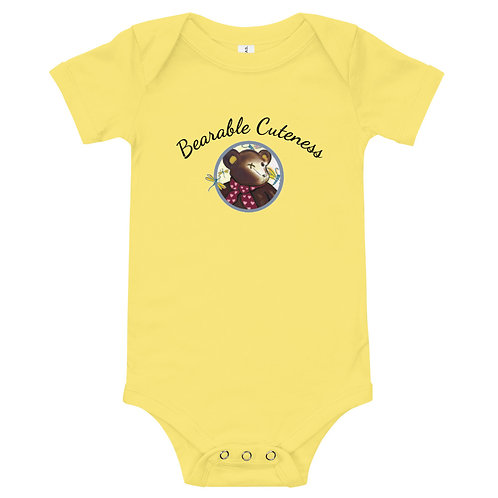 S.Johnson Designs/Bearable Cuteness One piece Baby Body Suit