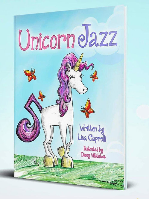 Unicorn Jazz Children's Book (Paperback 8.5 x 11)