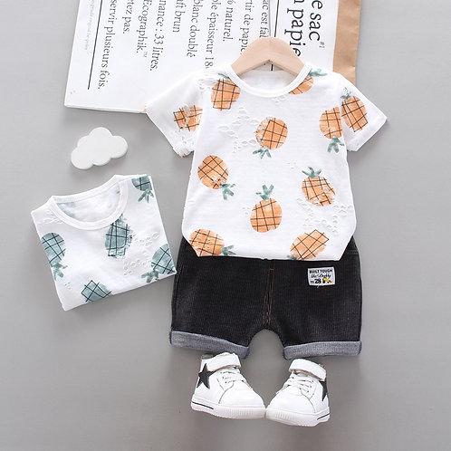 Boy's Short Set Pineapple print