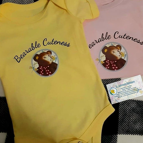 Bearable Cuteness Body Suit 3-24 Months