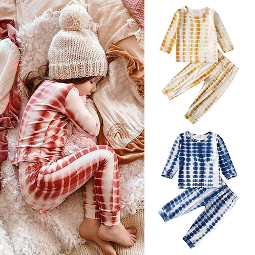 2Pcs  Girl/ Boy Clothes Long Sleeve Top Pullover Pants Leggings print outfit