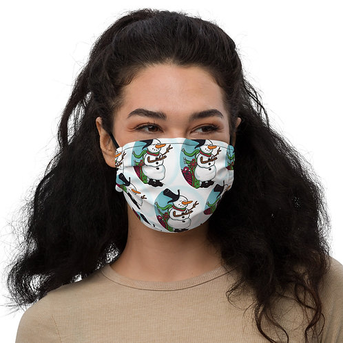 """Premium face mask """"Magical Snowman"""" All over Pattern"""