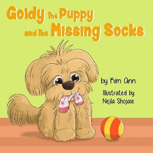 """Goldy the Puppy and the Missing Socks"" Children's Book By Kim Ann"