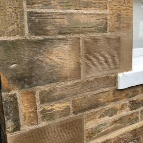 Lime mortar stone repair