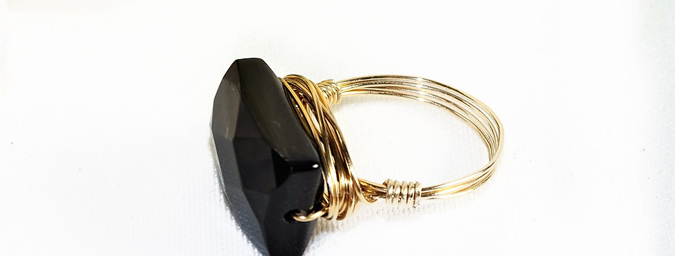 Onyx Goddess Gems Ring