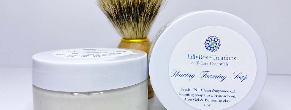 Shaving Foaming Soap ~Hickory & Suede