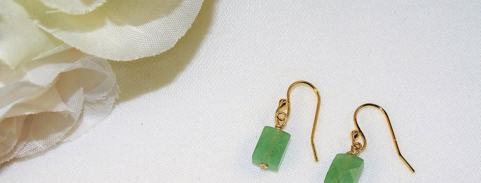 Aventurine Petite Gems Link Earrings