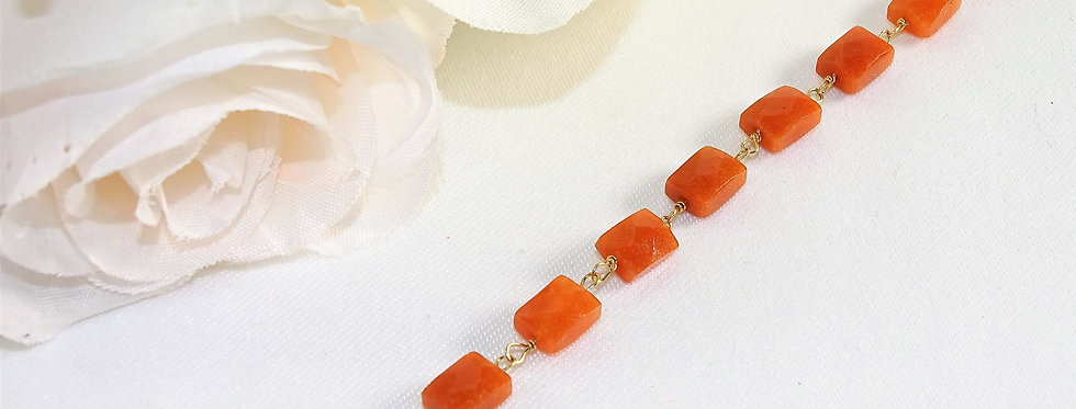 Carnelian Petite Gems Link Bracelet