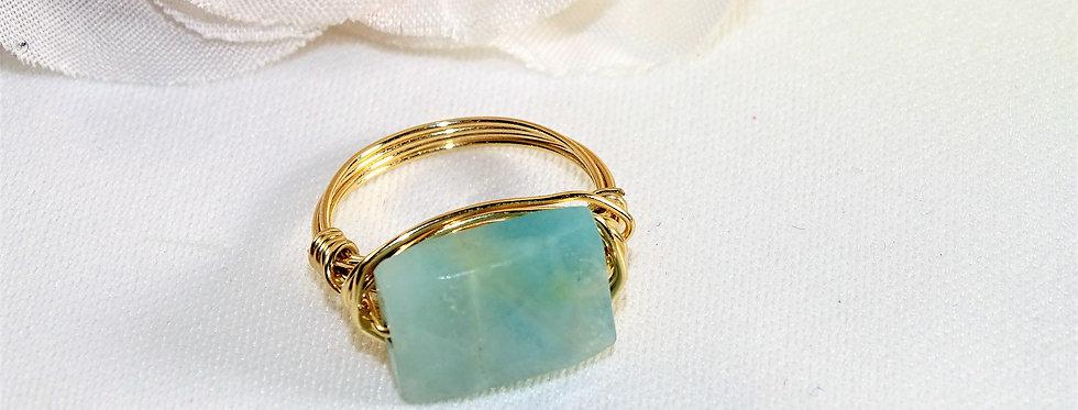 Amozonite Midi Gems Ring