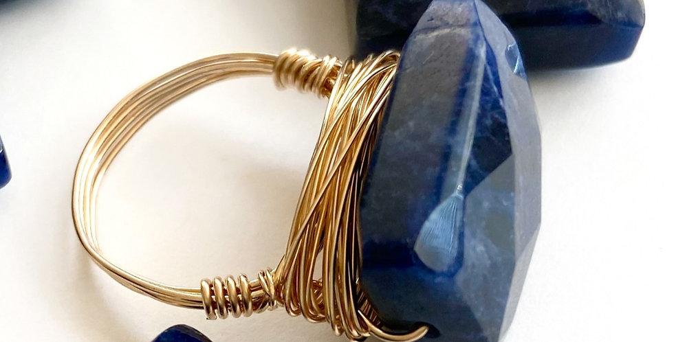 Sodalite Goddess Gems Ring