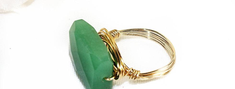 Aventurine Goddess Gems Ring