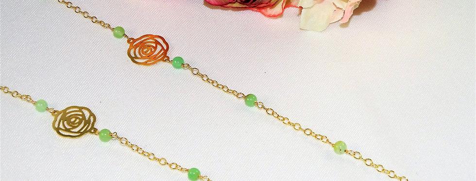 Chrysoprase Rose Necklace