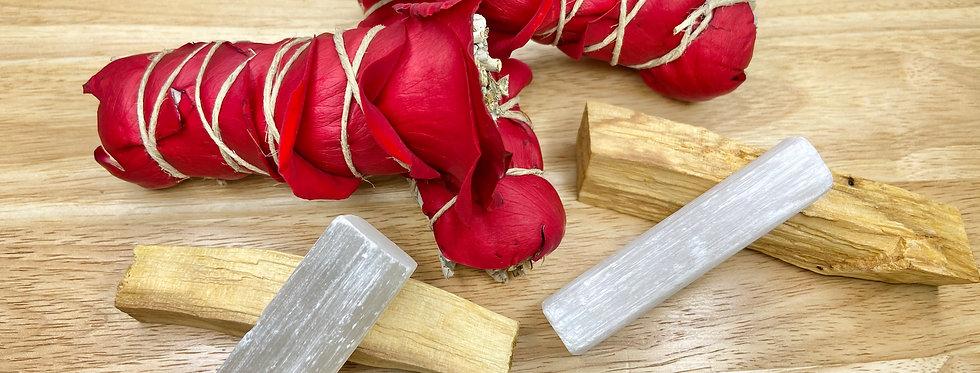 Floral Smudging Bouquet ~ Sage & Roses