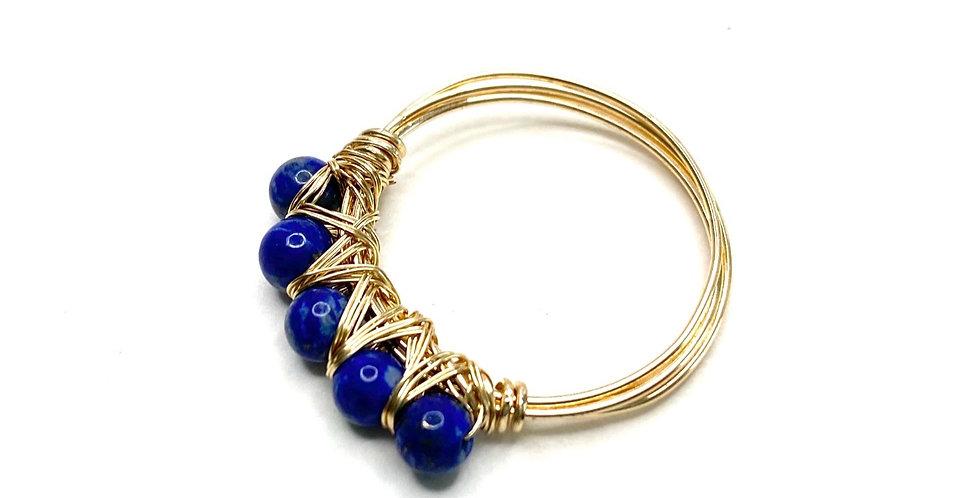 Lapis Lazuli Wrap Me Ring