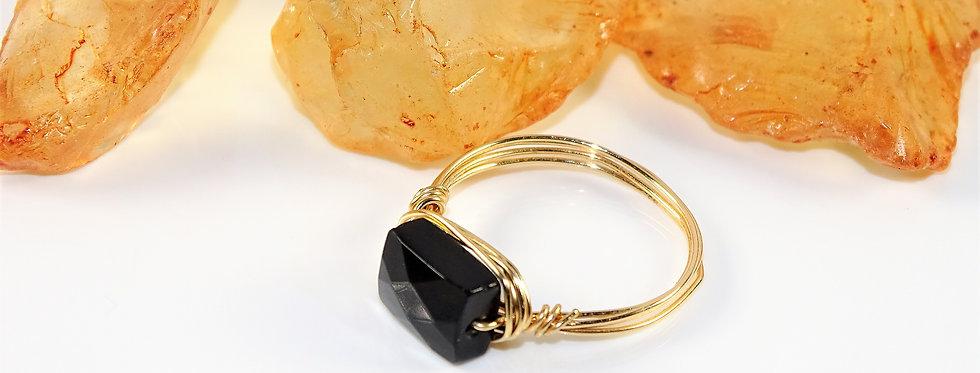 Onyx Petite Gems Ring