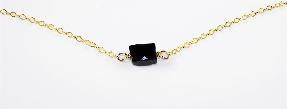 Petite Gems Onyx Necklace