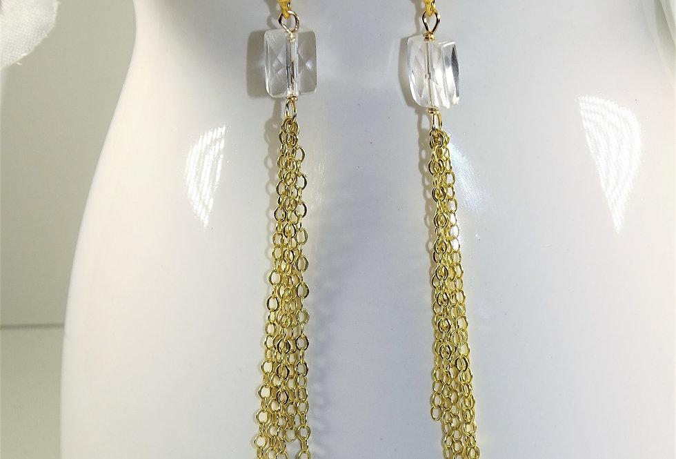 Crystal Quartz Fringe Earrings