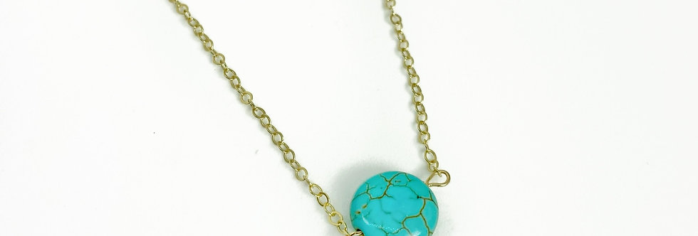 Turquoise Circle Me Necklace