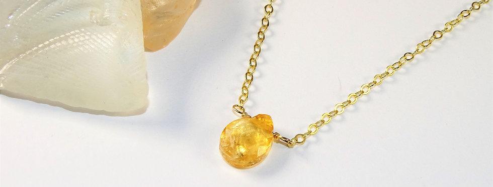 Petite Gems Tear Drop Citrine Necklace