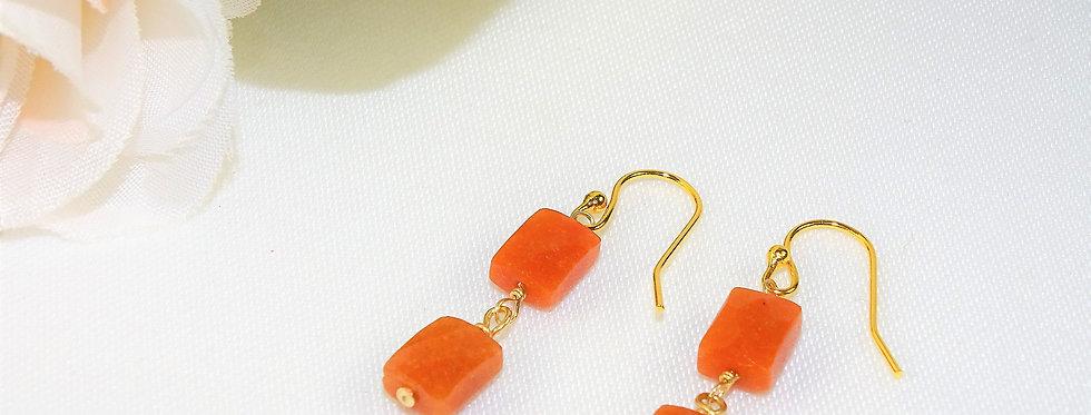 Carnelian Petite Gems 2 Link Earrings