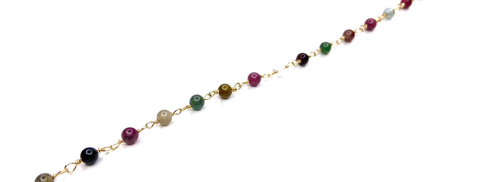 Tourmaline Mini Rock Bracelet