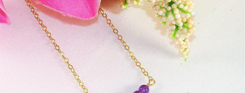Amethyst Bar Necklace