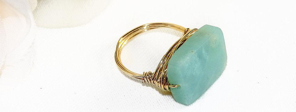Amozonite Goddess Gems Ring
