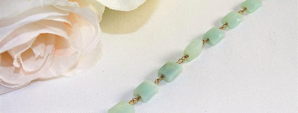 Amozonite Petite Gems Link Bracelet