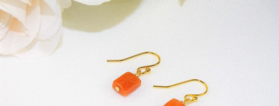 Carnelian Petite Gems Link Earrings