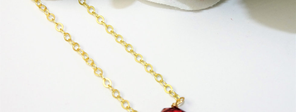 Tear Drop Necklace *Garnet