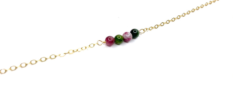 Tourmaline Mini Rock Bar Bracelet