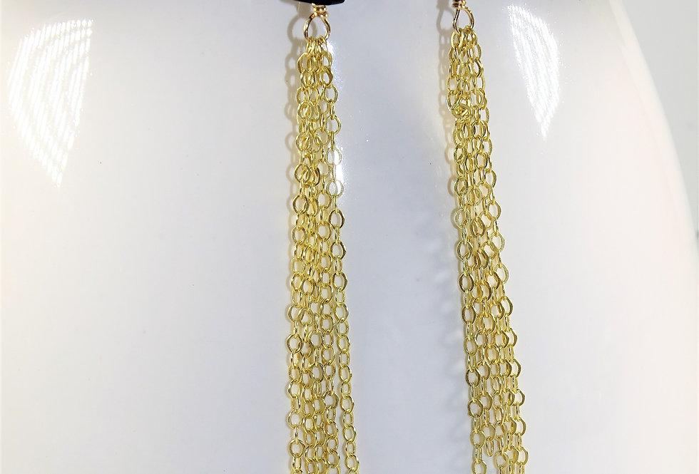 Onyx Fringe Earrings