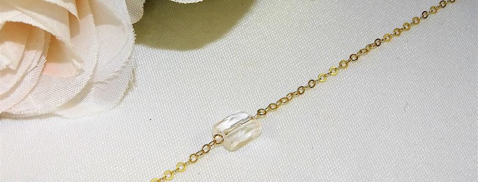 Crystal Quartz  Petite Gems Bracelet