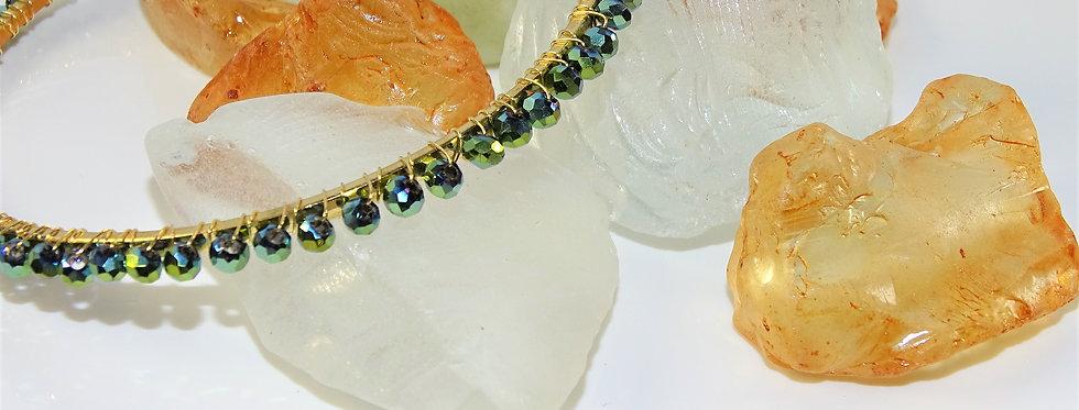 Wrapped Bangles - Metallic Emerald Green