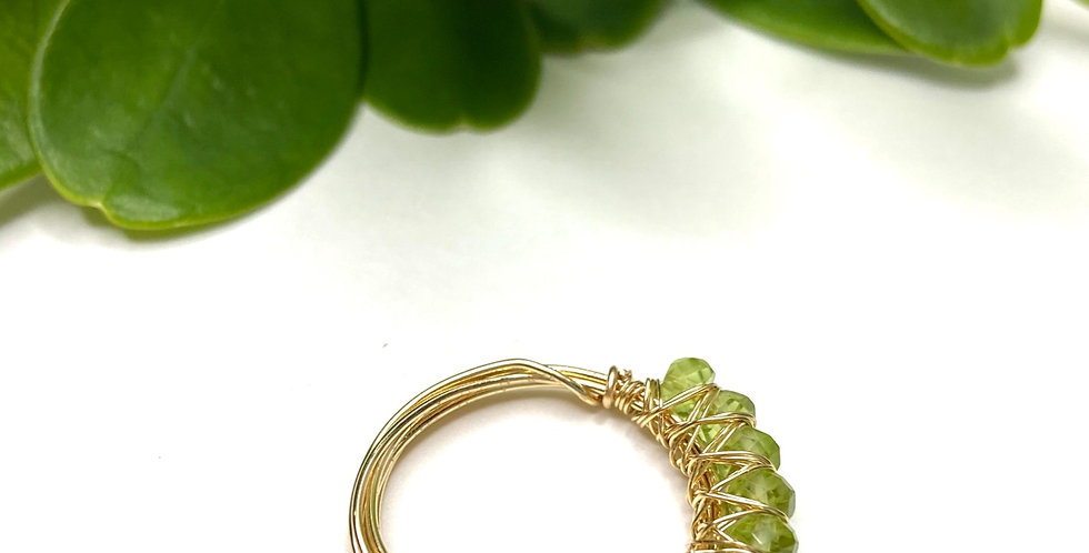 Peridot Wrap Me Ring