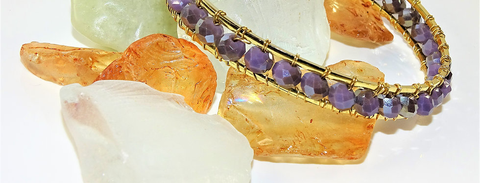 Double Wrapped Bangles - Lavender