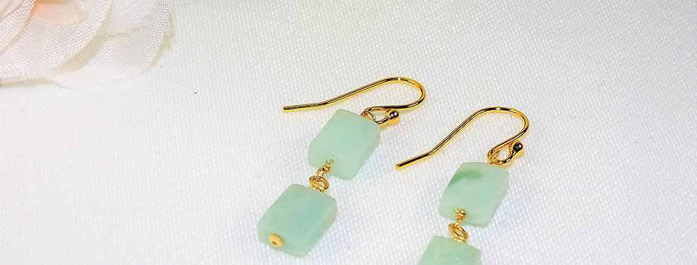 Amazonite Petite Gems 2 Link Earrings