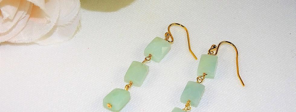 Amazonite Petite Gems 3 Link Earrings