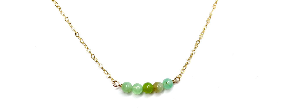 Chrysoprase Bars Necklace