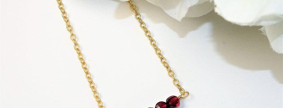 Garnet Bars Necklace