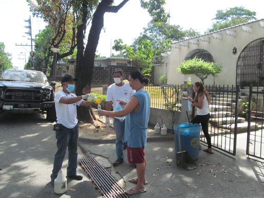06-02-2020 DISTRIBUTION OF FACE MASK, DISINFECTANT & ALCOHOL AT BEL-AIR 3