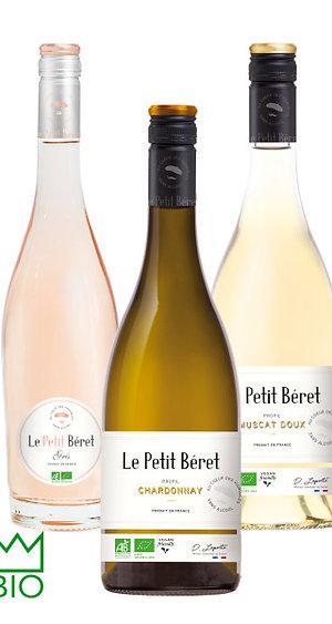 Le Petit Béret, Rosé - Muscat - Chardonnay, Sans alcool 0.0°, lot de 3
